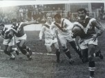 Claude Mantoulan on the attack in a Test against Great Britain